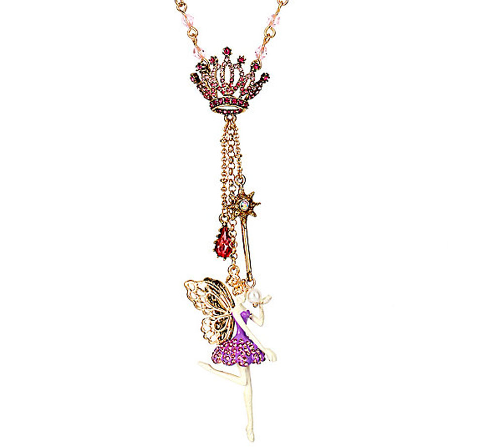 Betsey Johnson Jewelry PRINCESS CHARMING Fairy NECKLACE